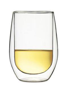 Duos White Wine (Set of 2) by Luigi Bormioli on Gilt Home