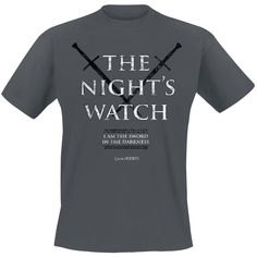 "Game Of Thrones T-Shirt Manches courtes ""Nights Watch"" anthracite • EMP"