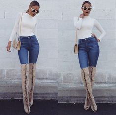 One of the biggest fall/winter fashion trends I've noticed on social media in the last few weeks is lace-up boots. There are so many different kinds: there are over-the-knee, super sexy lace-up boots that will make it look like you're channeling Kylie Jenner. To take it down a notch, there are knee-high lace-up boots that … Read More