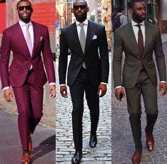 Groom Suit Wedding Suits For Men 2016 Mens Striped Suit Wedding Groom Tuxedo Suit Black Burgundy Wedding Tuxedos For Men plus si Black Men Fashion Tips, Mens Fashion Suits, Mens Suits, Black Men In Suits, Popular Mens Fashion, Sharp Dressed Man, Well Dressed Men, Costume Africain, Tuxedo For Men