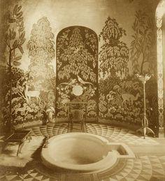 The Duchess of Alba's bathroom at Palacio de Liria, Madrid circa 1922. Photo courtesy of Musée des Arts Décoratifs