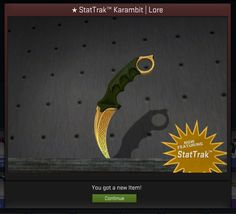 I just unboxed a StatTrak Karambit Lore yesterday and people are telling me it's worth a lot of money as it's the first drop of its type... Can anyone tell me how much it's worth?