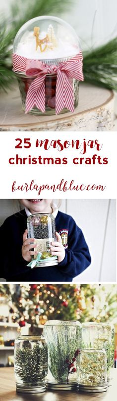 clever and creative mason jar christmas crafts!