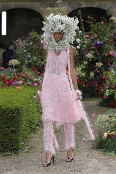 Rodarte's Spring 2018 Collection Is Almost Overshadowed by These Flower Crowns - HarpersBAZAAR.com