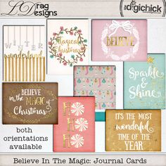 Believe In The Magic: Journal Cards by LDrag Designs