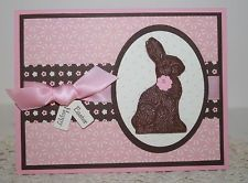 ... CARD SET x4 Completed Lot/Kit~Stampin Up Chocolate Bunny~ Easter