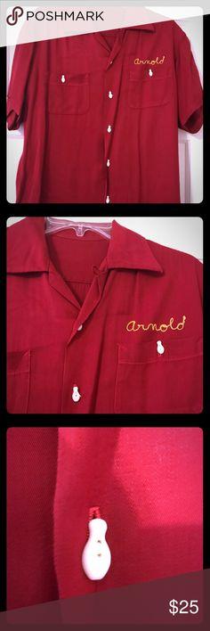 d2c0d507 Vintage Bowling Shirt Excellent condition! Vintage bowling shirt with  bowling pin buttons. Medium to