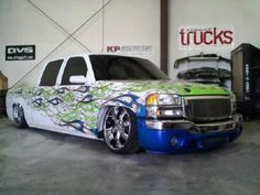 Bagged Trucks, Mini Trucks, New Trucks, Custom Trucks, Auto Paint, Car Painting, Chevrolet Silverado, Diesel Engine, Vehicles