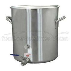Stainless Steel Brew Pot 15 x 16 inch by Polar Ware. $220.99. This stock pot with faucet is constructed from corrosion resistant 300 series stainless steel. It includes a cover and stainless steel ball valve.
