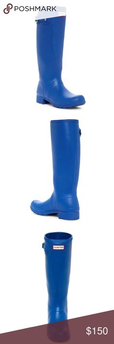 "Hunter Cobalt Blue Boots Hunter Cobalt Blue Waterproof Boots.  New with tag.  The ""it"" color this season.  Must have!  Excellent boots for the rain and snow. Hunter Boots Shoes Winter & Rain Boots"