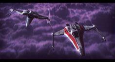 Star Wars Incom fighters Descent by AdamKop