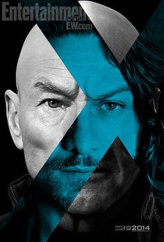 """A teaser poster for """"X-Men: Days of Future Past,"""" showing Patrick Stewart and James McAvoy as iterations of the character Charles Xavier/Professor X. Design by BLT Communications, LLC, Hollywood. James Mcavoy, Michael Fassbender, Man Movies, Movies To Watch, Good Movies, Movies 2014, Movie Tv, Movie Blog, Comic Movies"""