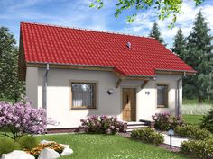 DOM.PL™ - Projekt domu ARD Aster 1 paliwo stałe CE - DOM RD1-48 - gotowy koszt budowy Aster, House Plans, Outdoor Structures, Mansions, House Styles, Outdoor Decor, Modern Houses, Home Decor, Stone Houses