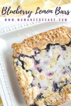 These quick and easy blueberry lemon bars are made with boxed cake mix, lemon juice, and blueberries. Glazing this delicious dessert is a lemon icing. #boxedcakemix #cakemix #blueberrylemon #lemon #blueberries #cake #bars #dessert #fruit #glazed #summerdessert #baking Best Dessert Recipes, Vegan Recipes Easy, Easy Desserts, Delicious Desserts, Bar Recipes, Layered Desserts, Lemon Desserts, Desert Recipes, Brownie Recipes