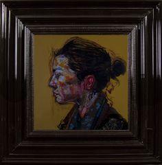 Profil de George  - Encre et Acrylique sous Perspex - 53 x 53 cm (hors cadre)