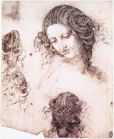 Sandro Boticelli hair details. Drawing