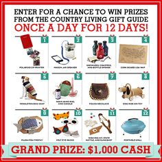 Don't Miss Out: Country Living's 12 Days of Giveaways  - CountryLiving.com
