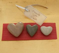 Hearts for Haiti, Set of 3 (Gratitude Rocks)