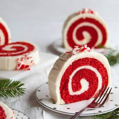 Peppermint Red Velvet Cake Roll Recipe Desserts with all-purpose flour ...