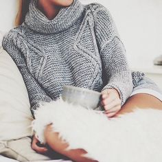 "iadorefashionn: ""Grey High Neck Long Sleeve Sweater """