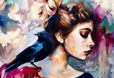 Dreamlike Art: Teen artist brings her dreams to life through her paintings Painting Tattoo, Painting & Drawing, Dimitra Milan, Oil Portrait, Friends Are Like, Aesthetic Images, Creative Activities, Cool Artwork, Amazing Artwork