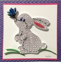 Easter bunny holiday decor, Quilling art sign, Seasonal decor Happy to share this article from my Shop: Easter Bunny, … Arte Quilling, Paper Quilling Cards, Paper Quilling Patterns, Origami And Quilling, Quilled Paper Art, Quilling Paper Craft, Paper Crafts Origami, Quilling Ideas, Paper Crafts Magazine