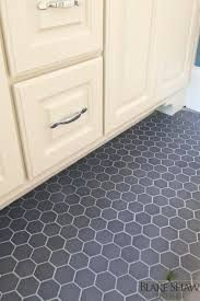 hexagon floor tile - Gray color tile with light grout