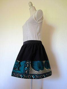 Jupe style ethnique tissu wax africain : Jupe par cewax