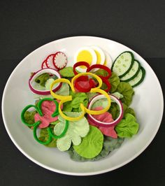 Wool Felt Play Food: Salad Could this be made with craft foam?
