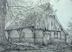 Bakspieker bij het erve Dubbelink te Azelo, gem. Ambt Delden - tekening Jan Jans - ouheidkamer Twente