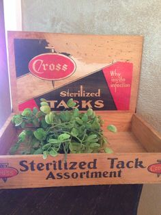 Vintage Wooden Cross Sterilized Tack Dispenser Box,1950s,Wooden Box,Counter Display,Home Decor,Carpet Tacks,Advertisement,Retro,Hinged Box, by Sunshineoftreasures on Etsy