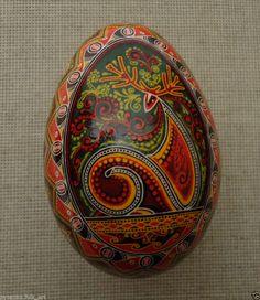 Ukrainian Pysanka by Oleh K, GOOSE Easter egg Pysanky