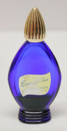 Vintage EVENING IN PARIS Cobalt Blue PERFUME BOTTLE w/ Sm Amt/Perfume ...