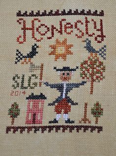Honesty, pattern by Birds of a Feather. Stitches by Sandra Louise at One million stitches ...