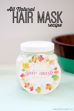 All Natural Hair Mask Recipe by www.girllovesglam.com via @Tauni Orcutt (SNAP!) #beauty #DIY