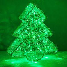 LED Dimensional Christmas Tree, Green Lights - Christmas Lights, Etc Christmas Porch, Outdoor Christmas Decorations, Green Christmas, Light Decorations, Christmas Lights, Holiday Time Lights, Green Led, Green Lights, Deco Led