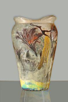 Art nouveau Vase, Emile Gallé (1846-1904)