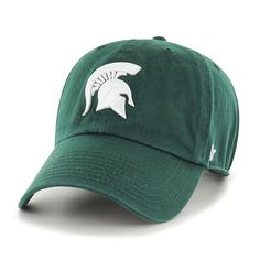 quality design 22976 256e1 Michigan State Spartans 47 Brand Dark Green Clean Up Adjustable Hat
