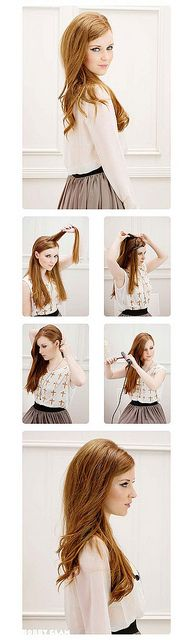 hair how-to : the sexy bouffant by {this is glamorous}, via Flickr