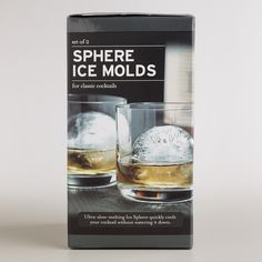 Create ultra slow-melting ice balls to chill your drinks with our Sphere Ice Molds. >> #WorldMarket Father's Day
