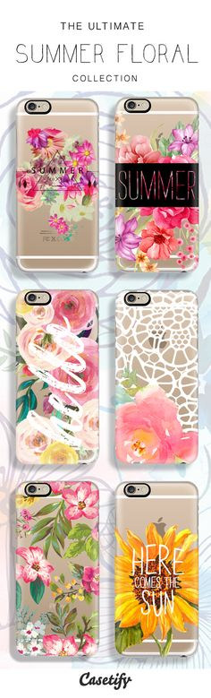 6 All time favourite summer floral protective iPhone 6 phone cases | Click through to see more iphone floral print case ideas >>> http://www.casetify.com/artworks/pIlLXYK1W5 | @casetify