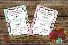 Cute as a Button Birthday Party Invitation by InvitasticInvites, $10.00
