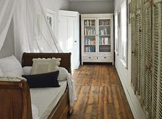 floor, shutters, daybed......lovely...
