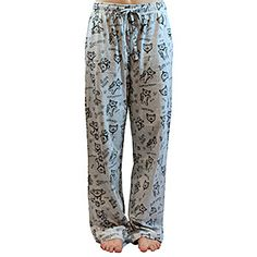 "ThinkGeek :: Soft Kitty Pajama Bottoms.  Product description: ""Fuzzy and grey but not a kitten... Great for Pajama Day at work, if you have that.  And if not, perfect for Get Yourself Fired Day."""