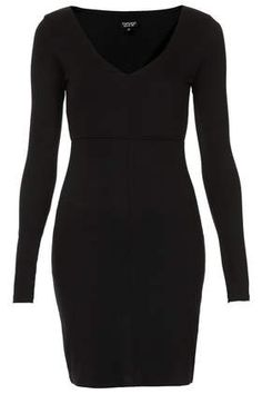 Seamed V Neck Bodycon Dress - Bodycon Dresses - Dresses  - Clothing