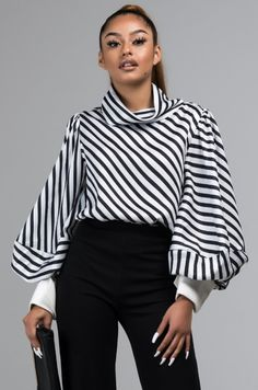 1ad58ff7 Blouses | Cute Work Shirts For Women, Peplum Tops, Gracia Clothing. Stripes  DesignShirt SleevesAkiraBell Sleeve TopLabel