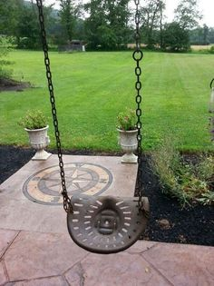 10 Artistic Farm Equipmen 10 Artistic Farm Equipment Repurposing Ideas For Home And Garden Decor DIY Vintage Tractor Seat Swing 10 creative container easy repurposing Most Brilliant Garden