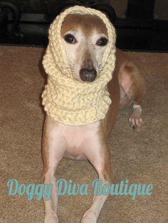 a0e6fd54a54 Items similar to 100% Wool Italian Greyhound Snood   Dog Snood   Neck  Warmer   Scarf on Etsy