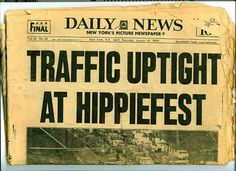Traffic problems at Woodstock, 1969