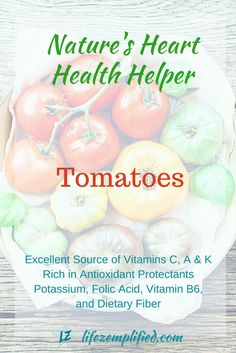 Tomatoes are nutrient-rich with powerful antioxidants providing anti-inflammatory protection. Regularly including tomatoes in diets is shown to provide protection against LDL oxidation and reduce the risk of cardiovascular disease development. Tomatoes may also aide in cancer prevention.